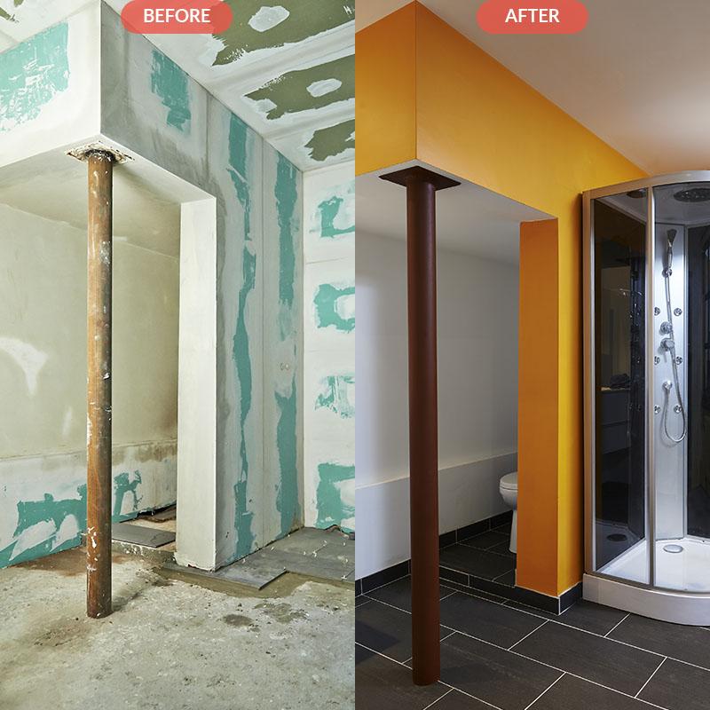 Adding Half Bathroom In Basement Roosevelt Island Nyc